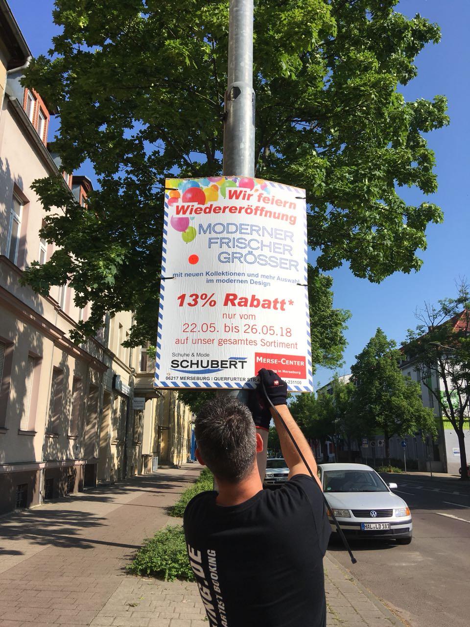 Plakatierung Schuhe & Mode Schubert