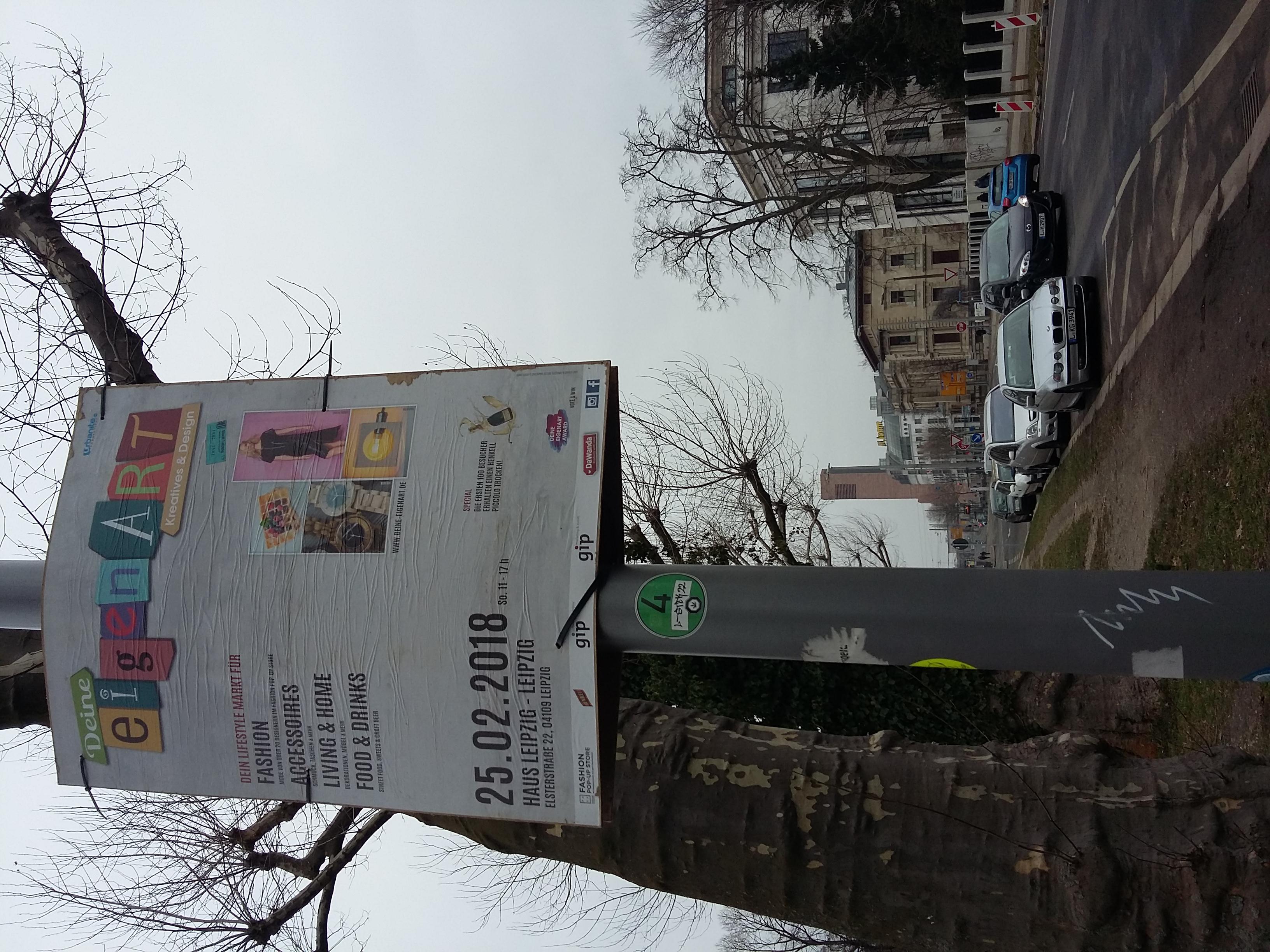 Plakatierung Design Messe Leipzig