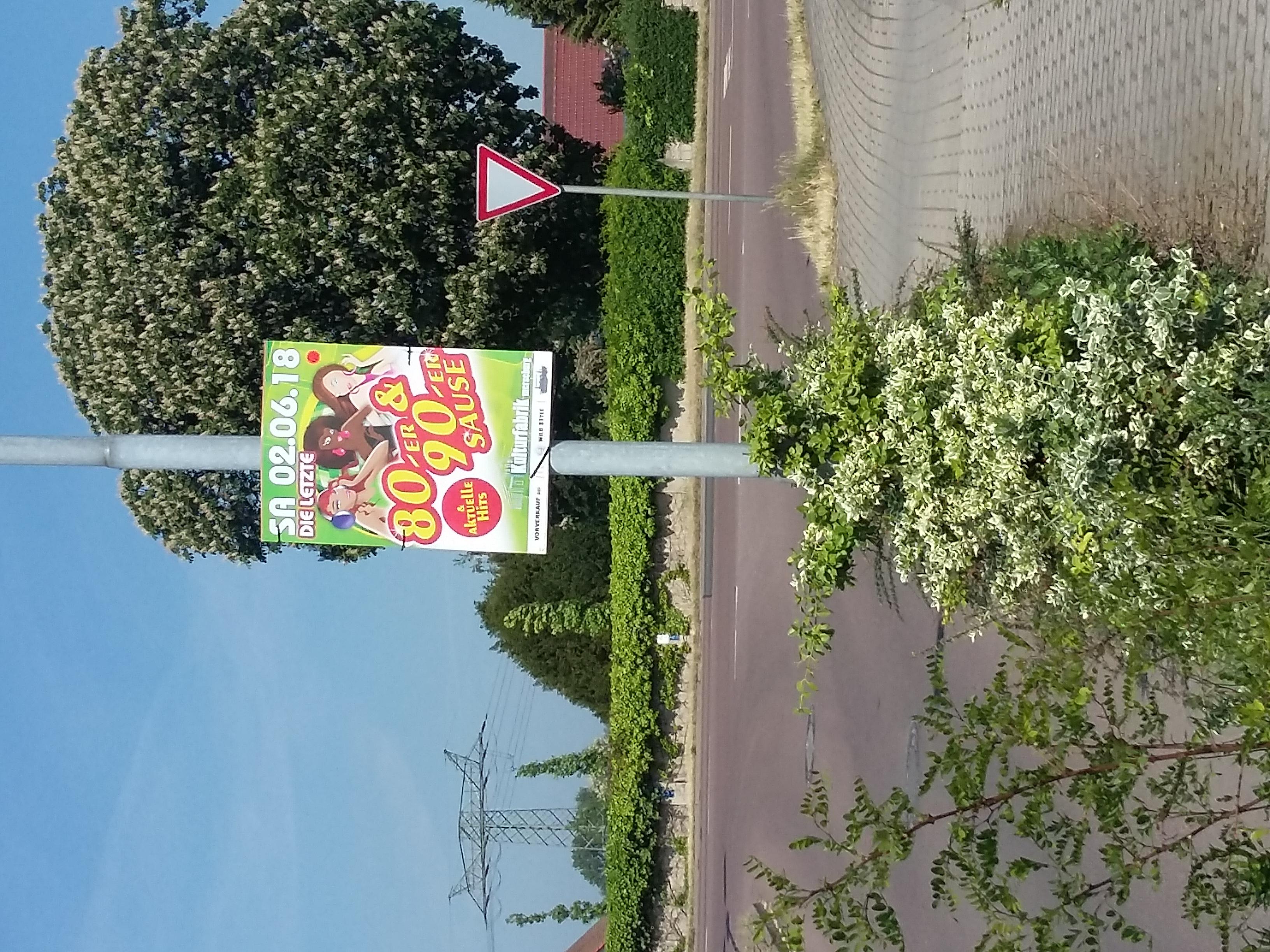 Plakatierung Kufa Merseburg