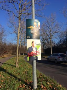 Plakatierung Wahlplakate