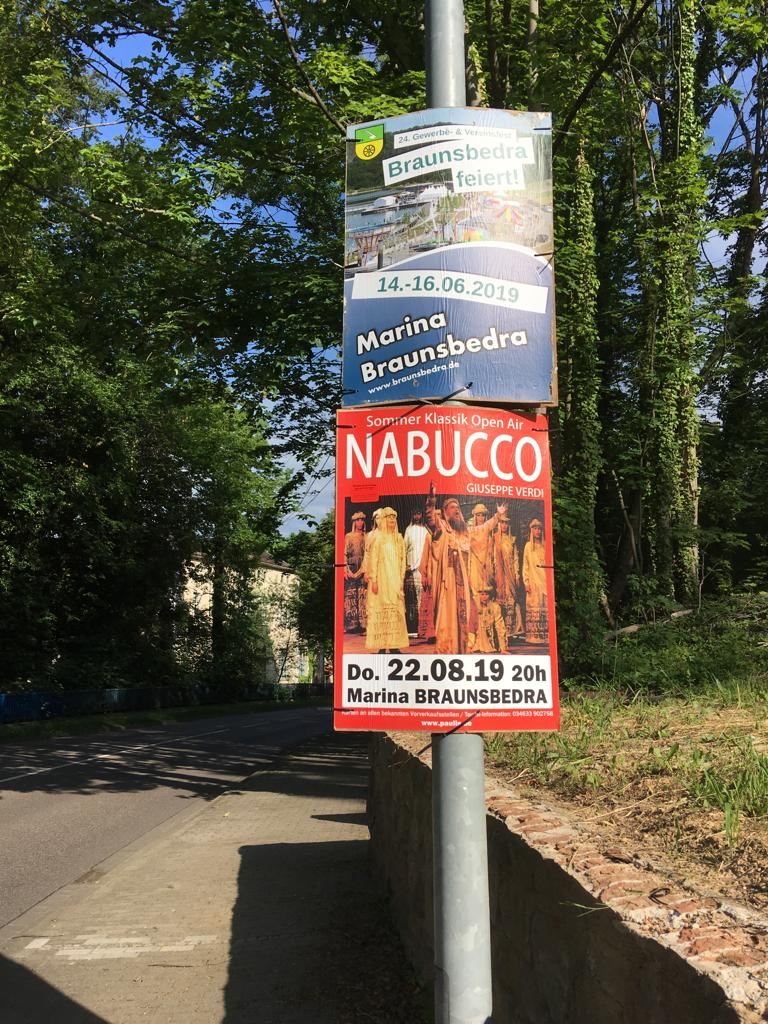 Plakatierung Nabucco
