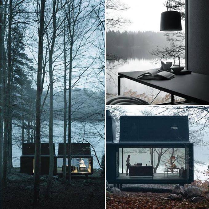 Designer prefab shelter by Vipp