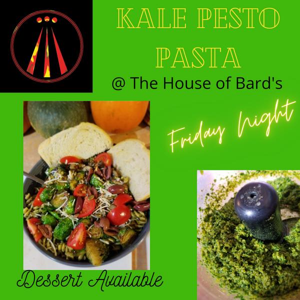 Vegan Kale Pesto Pasta and Live Music