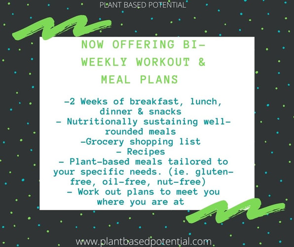 Contact to discuss your next meal & workout plan