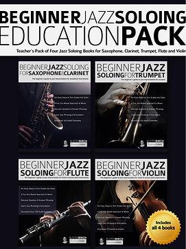 Beginner Jazz Soloing Education Pack Cov