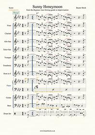 Sunny Honeymoon (screen grab)-score A4.p