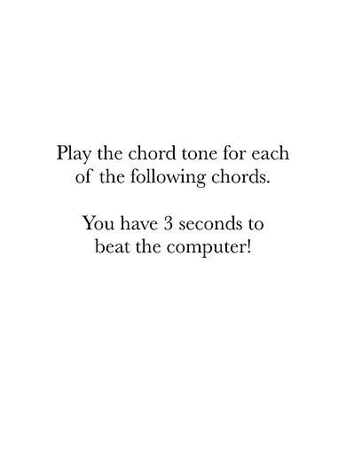 Chord Tone Tests