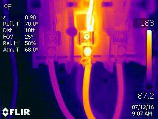 High Resistance Connection –Infrared Inspection