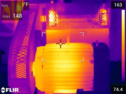 Motor, Pulleys, Bearings –Infrared Inspection