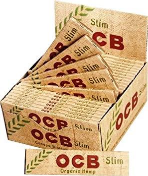 OCB SLIM with Organic Hemp 33 Blatt Heftchen (ganzer Karton) 24 Packungen/Karton