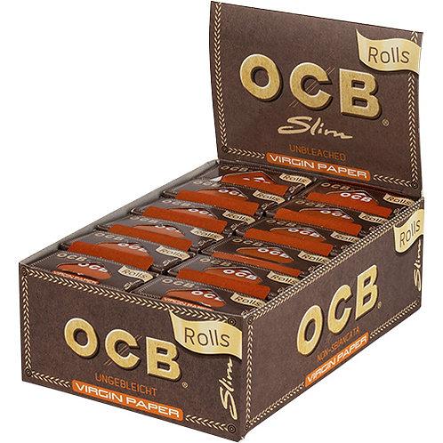 OCB Rolls Brown Slim unbleached (ganzer Karton) 24 Stück