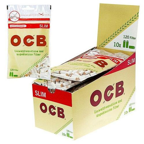 OCB Organic Hemp Filter 120 Stück/Packung (ganzer Karton, 10 Stück)