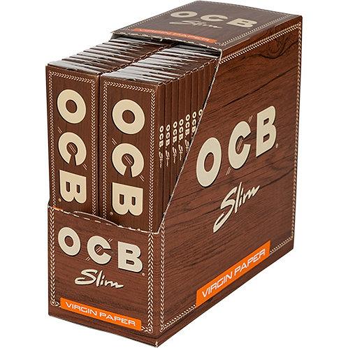 OCB Brown Slim unbleached (33 Blatt Heftchen) 50 Stück