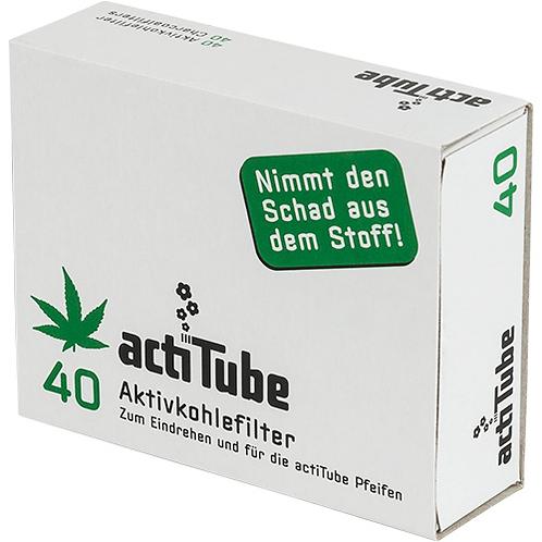 acti Tube Aktivkohlefilter 9mm (40 Stück/Packung)