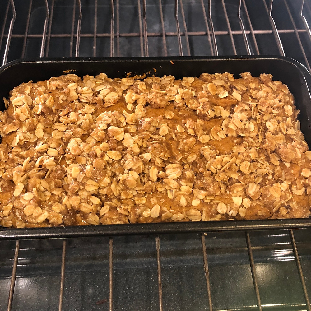 Pumpkin Bread with Crumble Topping