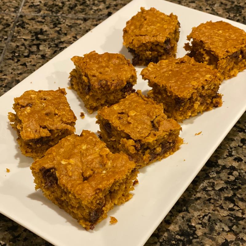 Pumpkin Protein Brownies