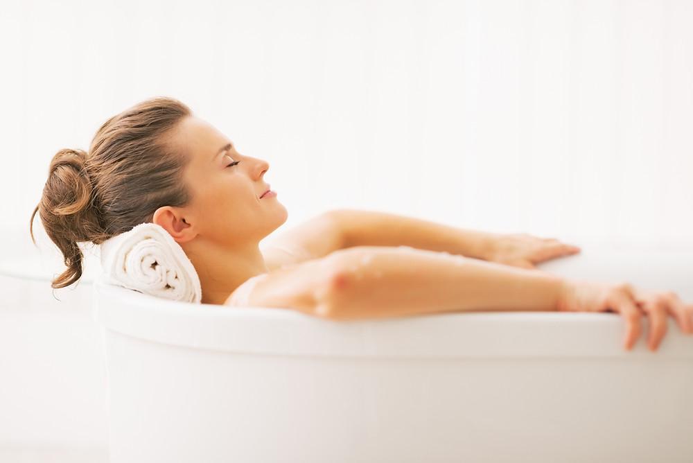 Soak in a warm bath