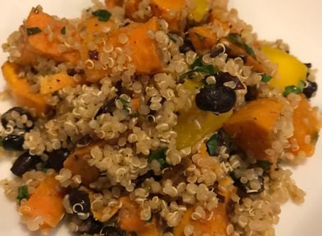 Sweet Potato & Black Bean Quinoa Salad