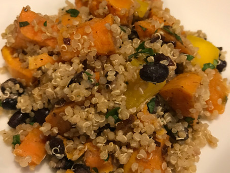 Sweet Potato & Black Bean Quinoa Salad