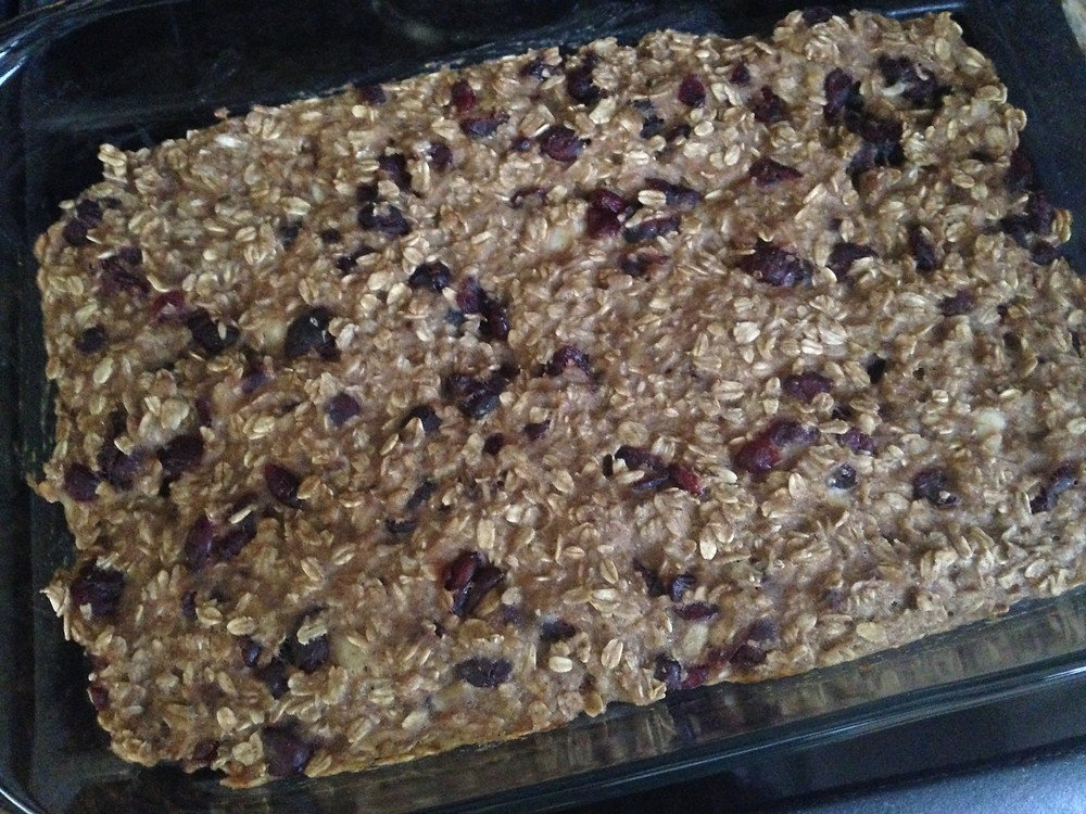Chewy Oatmeal Cranberry Breakfast Bars