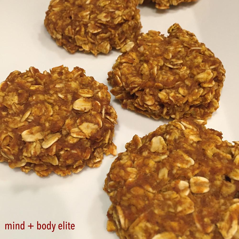 Pumpkin Peanut Butter Oatmeal Cookies