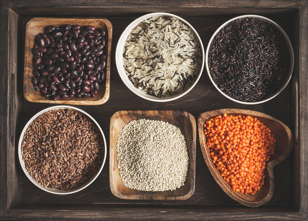 legumes, beans, nuts, seeds