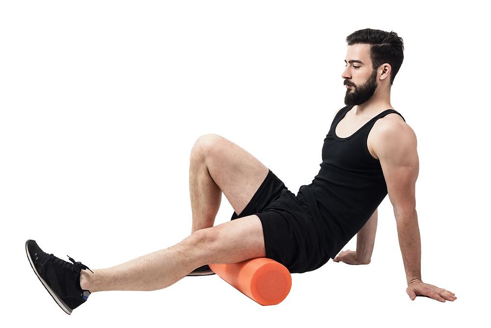 Foam roll tight muscles