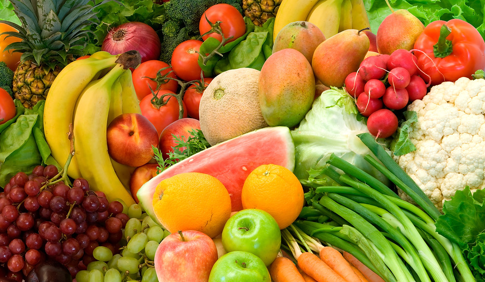 fruits and veggies high in water