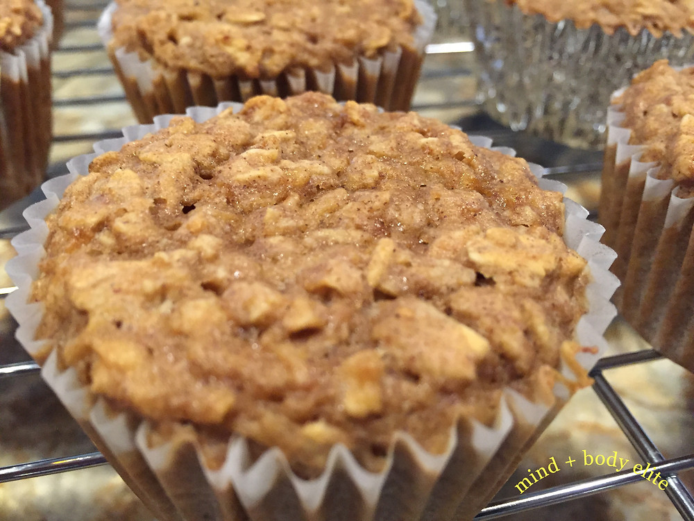 Apple Banana Oatmeal Muffins