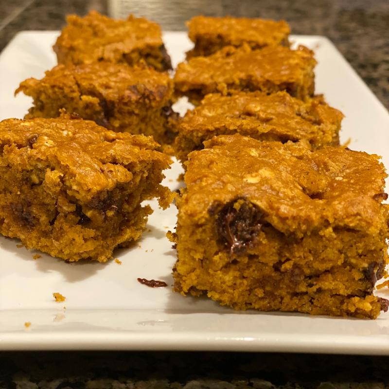 Pumpkin Protein Brownie Bites