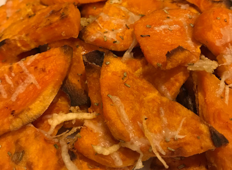 Rosemary Garlic Sweet Potato Crisps