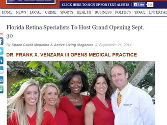 Florida Retina Specialists featured on SpaceCoastDaily.com