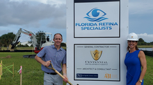 Florida Retina Specialists Breaks Ground on its Third Office Location in Viera on 9/25/20