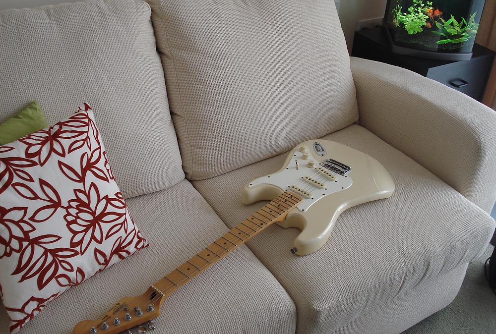 Christian Everett's electric guitar