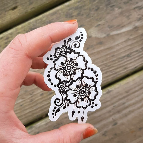 Henna Flowers Sticker