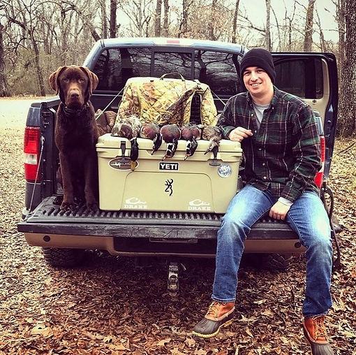 Chocolate Labrador Retriever | Duck Hunting | Flooded Timber | Arkansas | Wood Ducks | Mallard