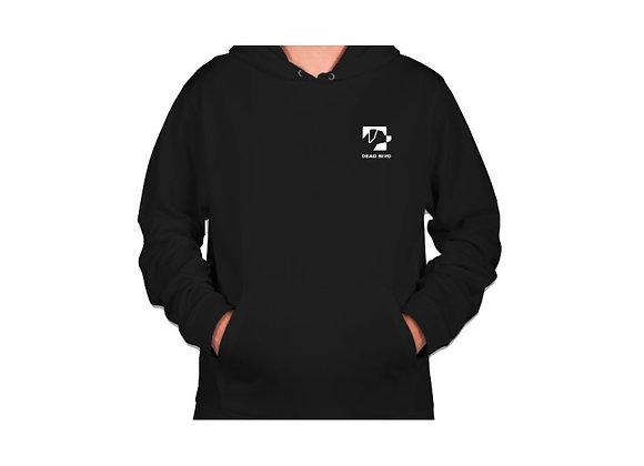 Ultra soft polyester fleece lined black Dead Bird duck calls left chest logo hoodie