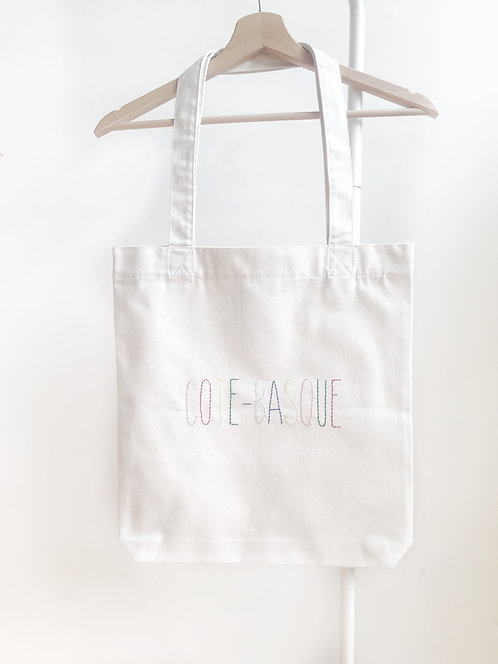 "Totebag ""COTE-BASQUE"" brodé à la main"