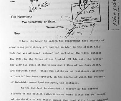 The Battle for Hodeidah in 1924