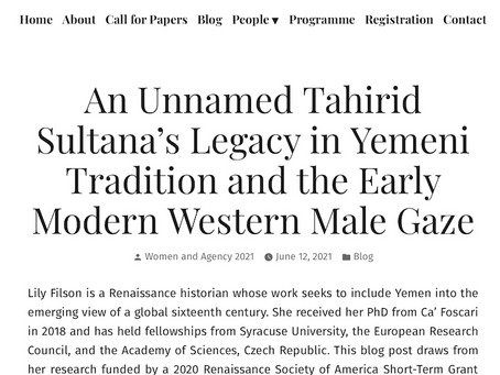 A Tahirid Sultana