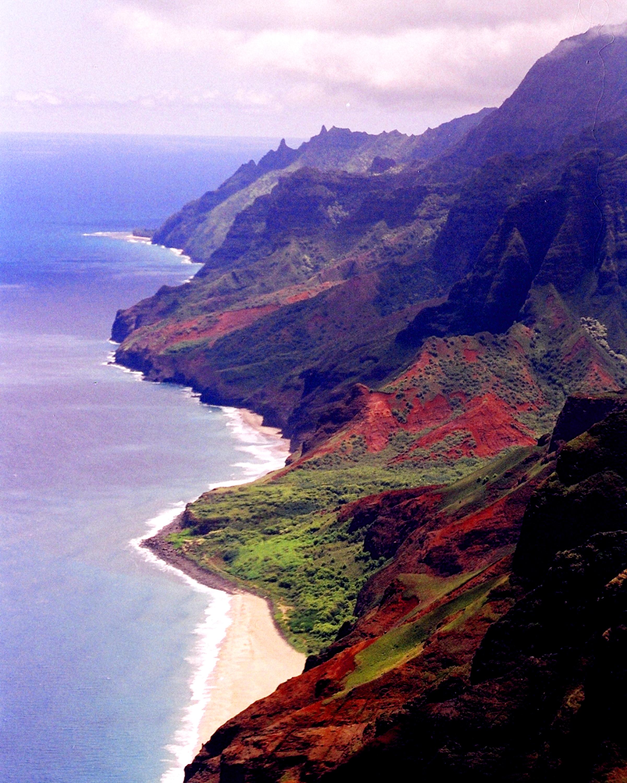 34-Hawaii-Coast line of Kauii helicopter