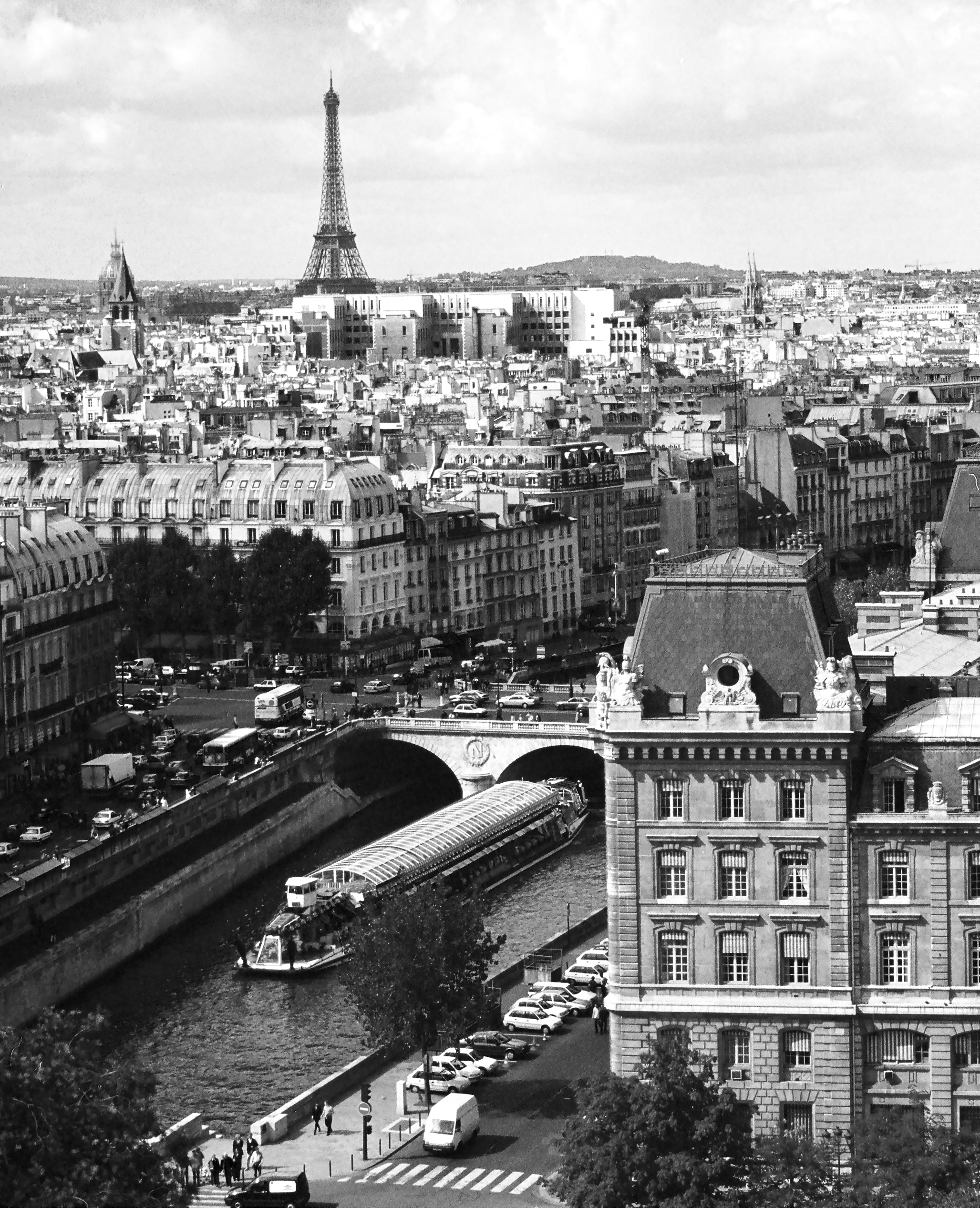 85-Paris-View of Eiffel Tower-Very clear BW