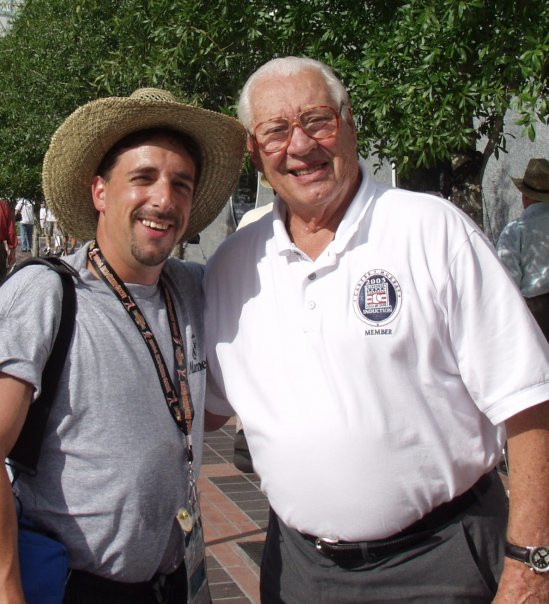 2004, Me and Bob Feller at the All Star Game in Houston