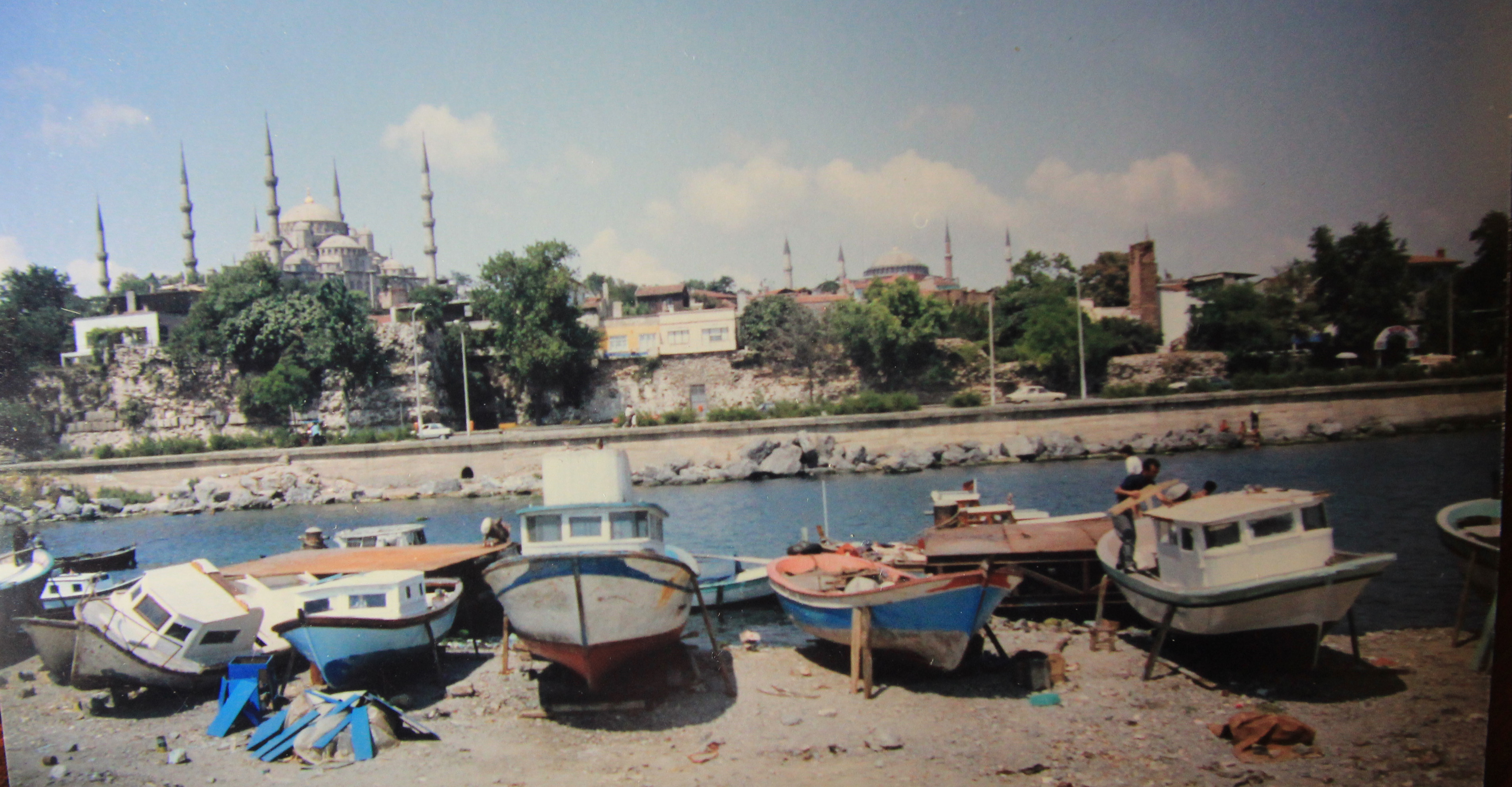 Istanbul with boats
