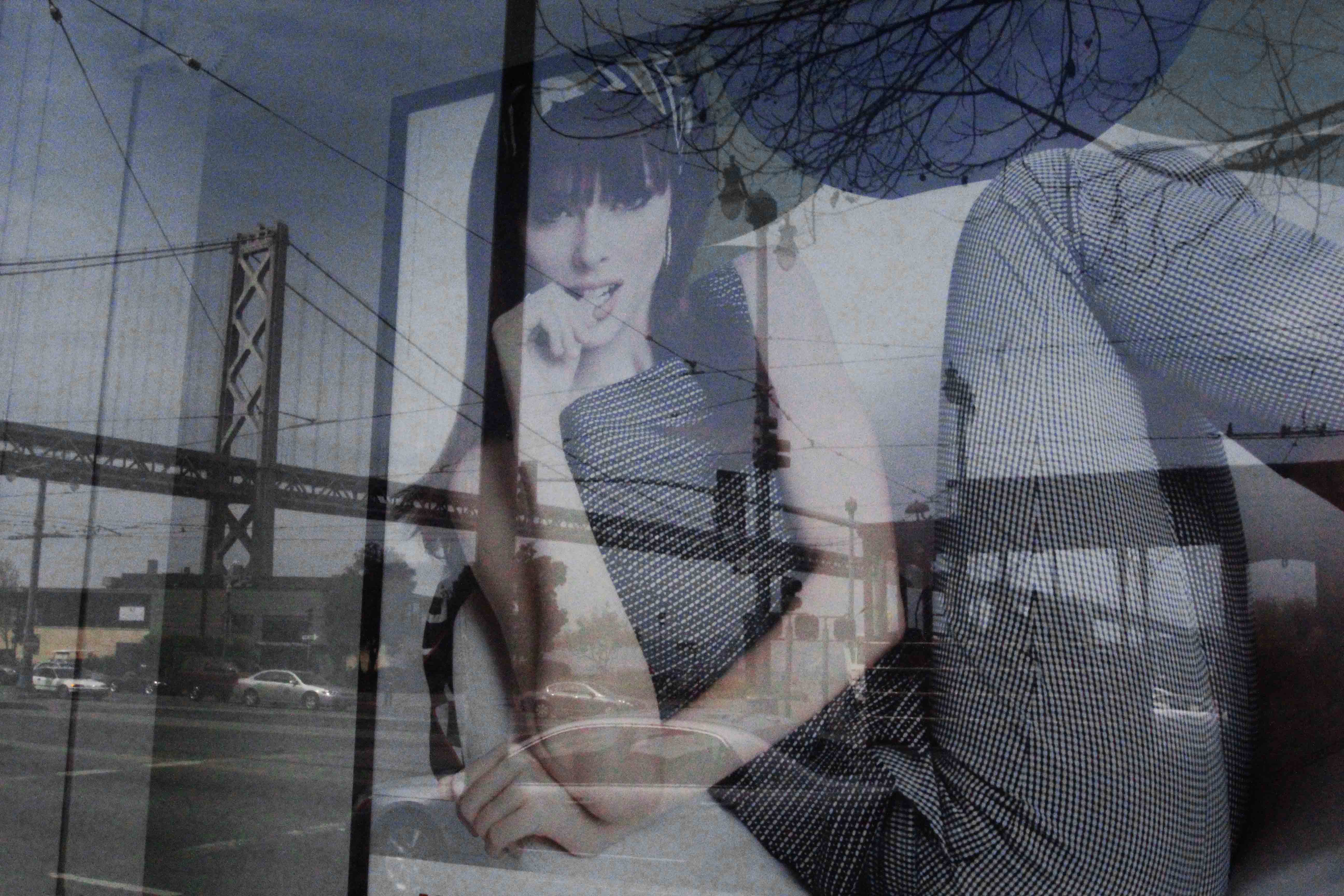 SF ARTISTIC SHOT OF GOLDEN GATE BRIDGE IN REFLECTION