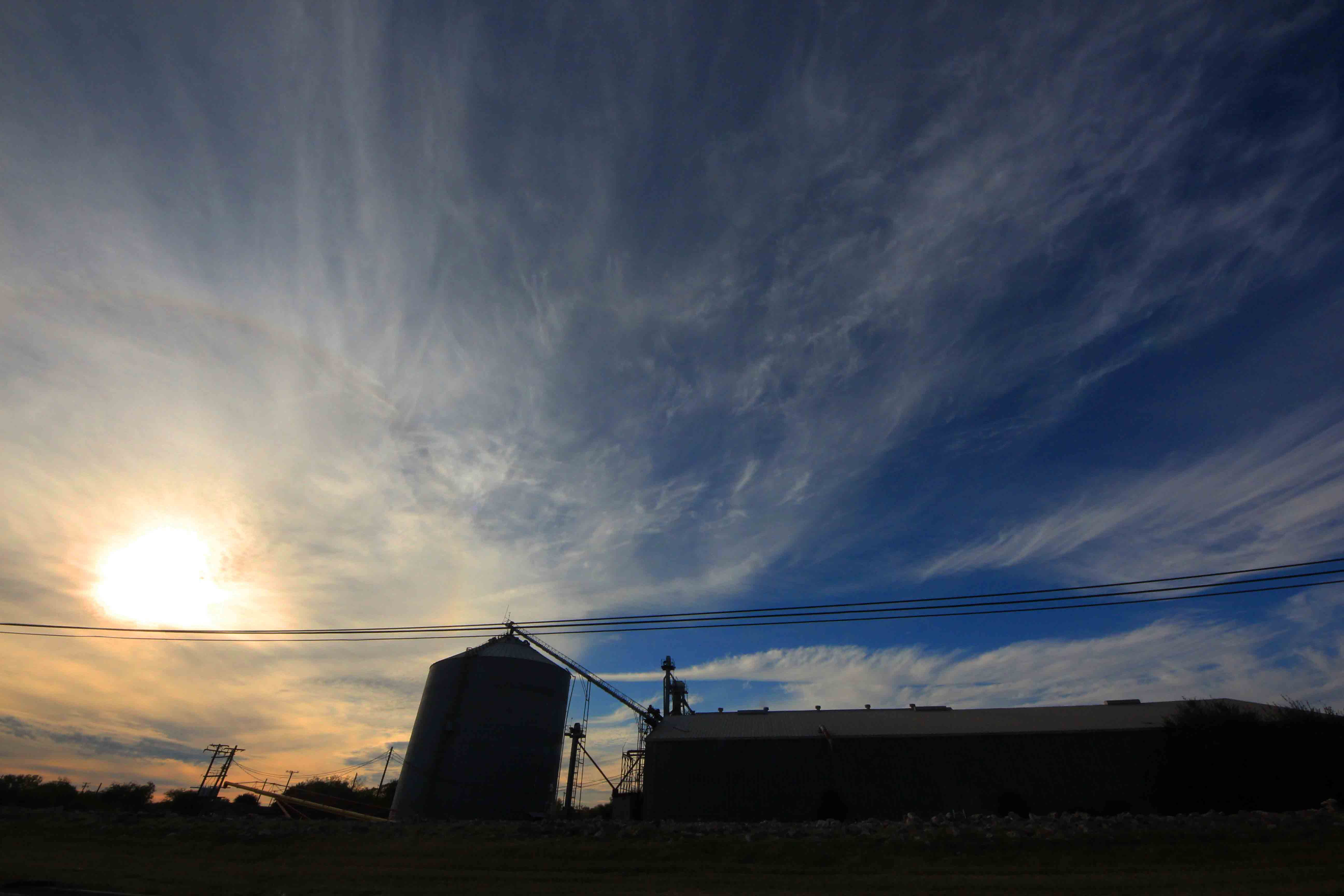 Nice Sunset with granary