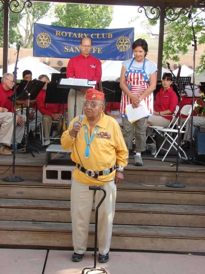 Navajo Jack Jones Speaking before Rotary Club