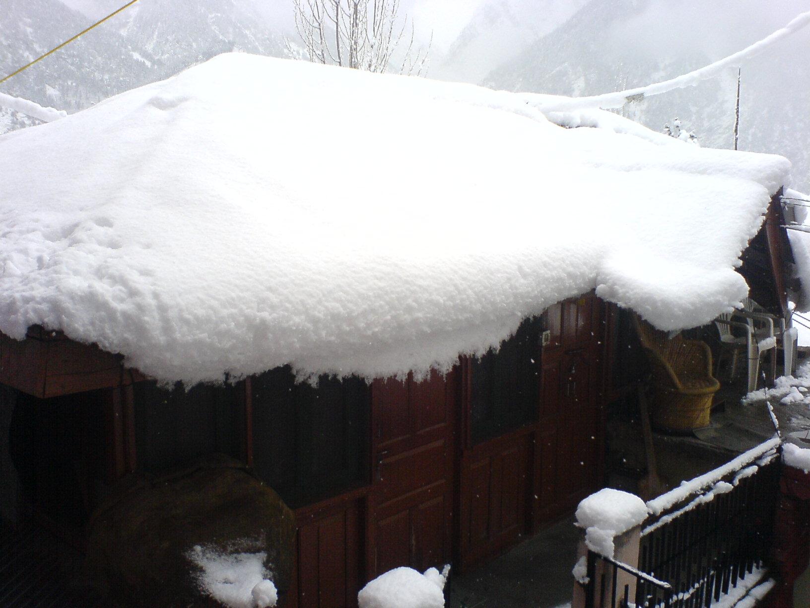 A Snow Laden Kinnauri House