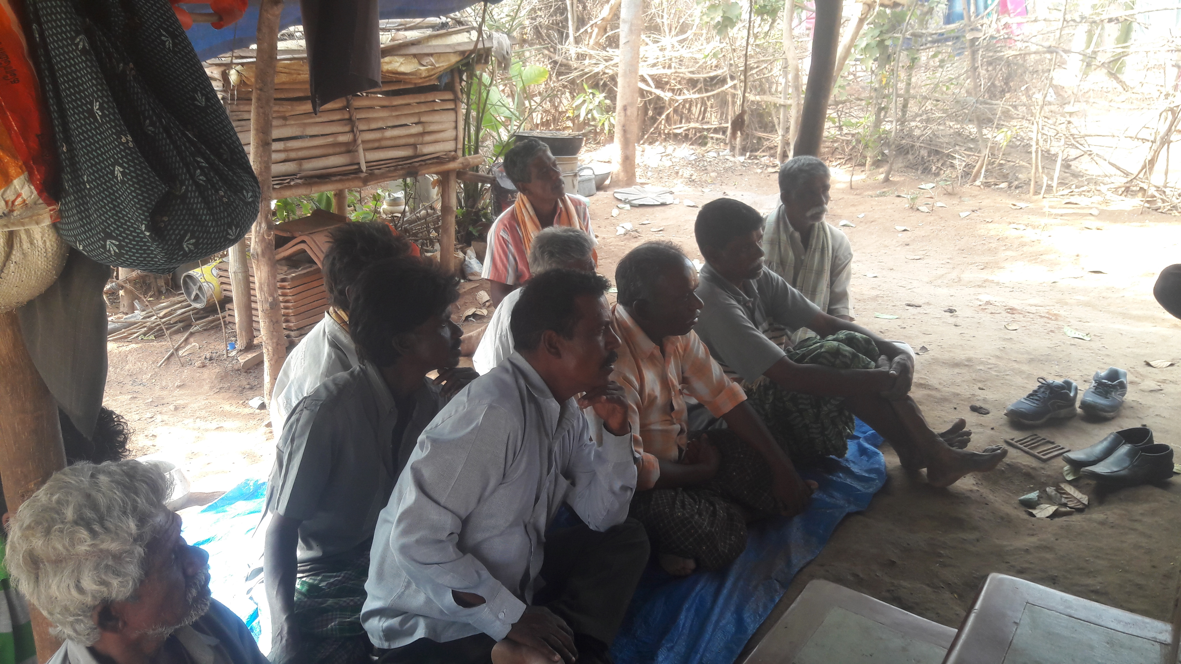 Farmers listening to tips on farming