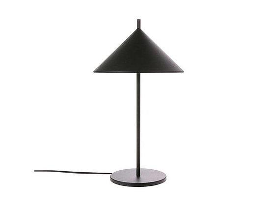 Lampe de table triangle en métal noire